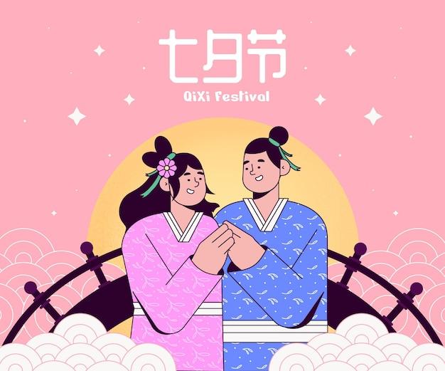 Qi xi day festival illustrazione