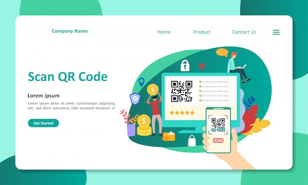 Pagina di destinazione del codice qr