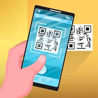 Scansione del codice qr su dispositivo mobile
