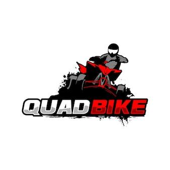 Modello di logo di moto quad
