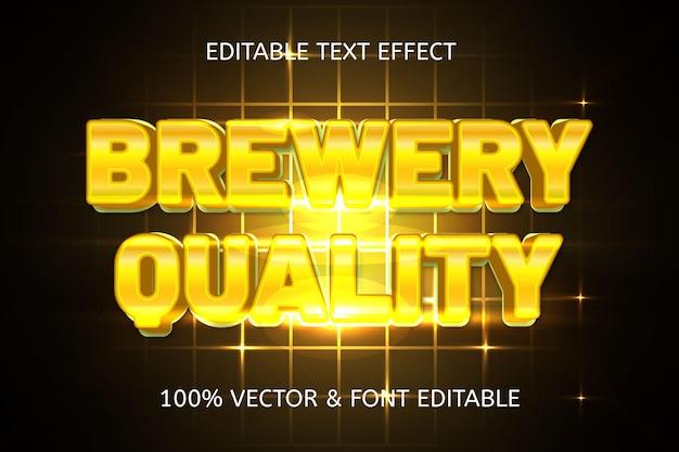 Effetto di testo modificabile di lusso in stile birrificio di qualità