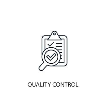 Icona della linea del concetto di controllo di qualità. illustrazione semplice dell'elemento. disegno di simbolo di contorno del concetto di controllo di qualità. può essere utilizzato per ui/ux mobile e web
