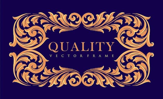 Cornice di qualità ornamenti d'oro elegante etichetta vintage