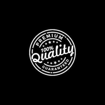 Qualità garantita logo emblema distintivo timbro design