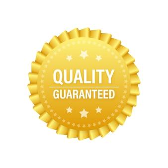 Qualità garantita. segno di spunta. simbolo di qualità premium. illustrazione di riserva di vettore