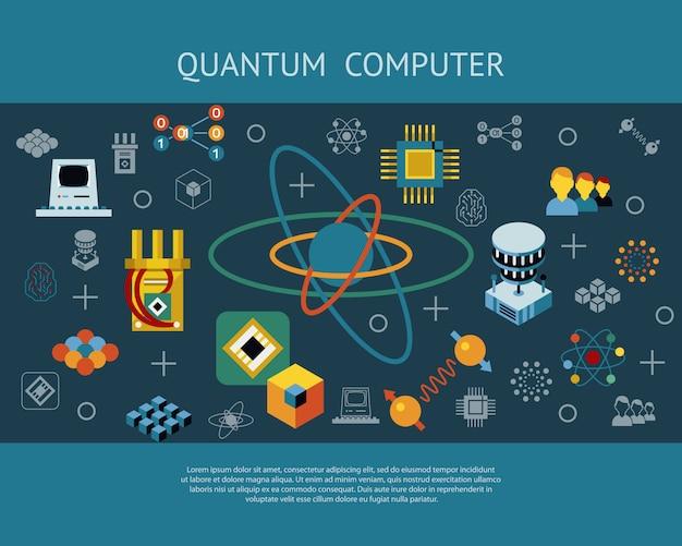 Raccolta di icone di calcolo quantistico