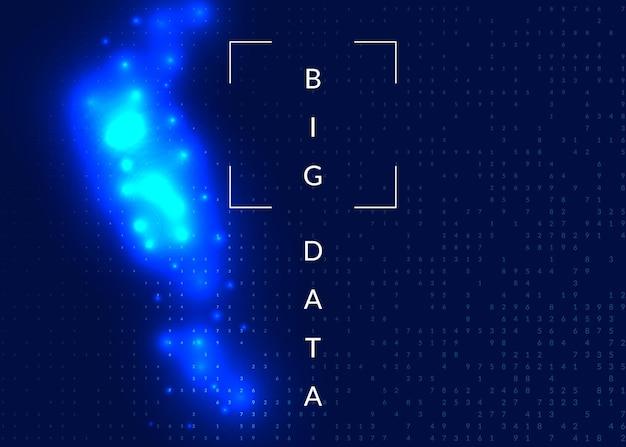 Computer di innovazione quantistica. tecnologia digitale. intelligenza artificiale, deep learning e concetto di big data. visual tecnico per il modello di database. contesto del computer di innovazione quantistica industriale.