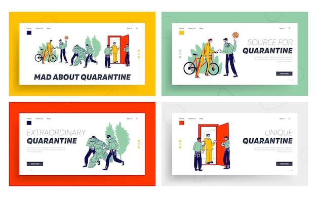 Set di modelli di pagina di destinazione per il controllo della quarantena.