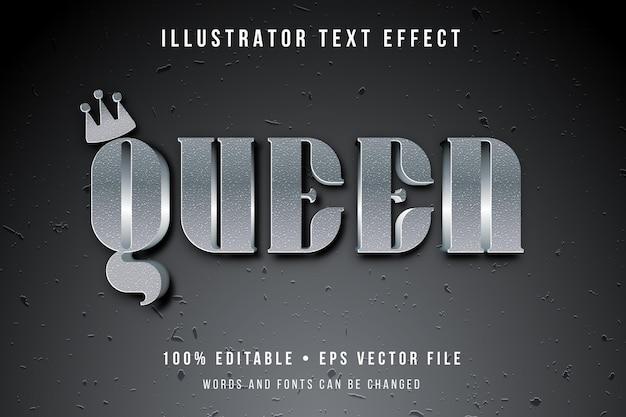 Effetto di testo 3d regina