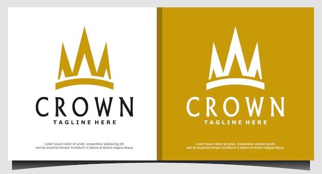Queen king princess crown royal beauty logo design di lusso