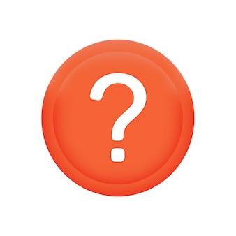 Punto interrogativo sul cerchio rossometafora domanda e risposta immagini di domande web isolate