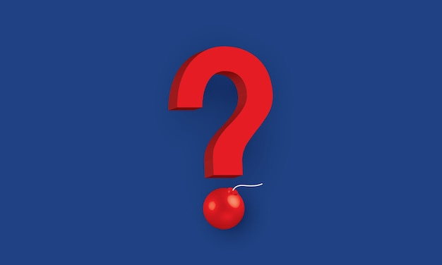 Punto interrogativo con bomba problema aziendale concetto ispirazione business