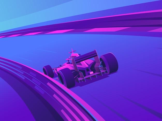 Il balid veloce porta a sua volta lungo la pista.