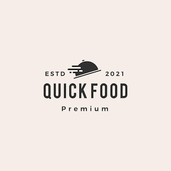 Logo vintage di fast food consegna veloce hipster