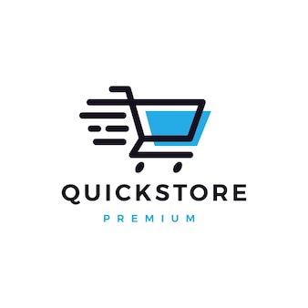 Logo del negozio di negozio rapido