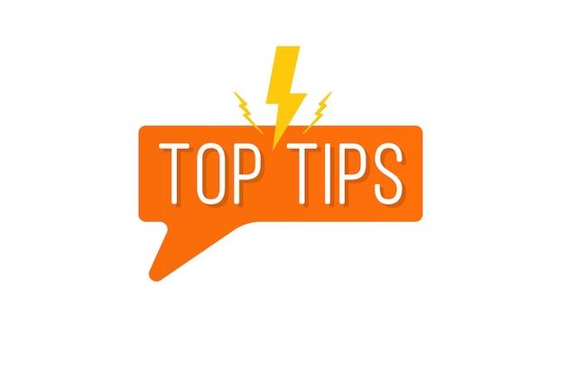 Suggerimenti rapidi scritte impostate trucchi utili loghi emblemi banner idea utile soluzione