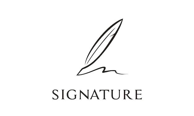 Ispirazione al design del logo di quill signature