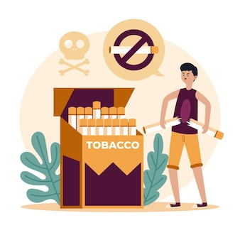 Smettere di fumare illustrazione