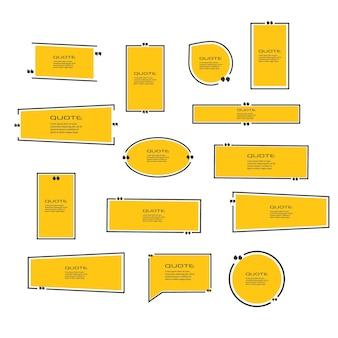 Citazione box frame box icona illustrazione