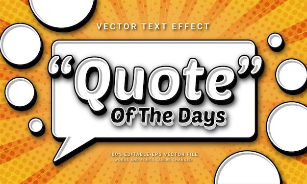 Citazione dei giorni effetto testo modificabile