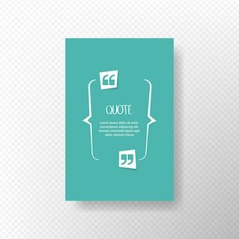 Citazione bolla di testo. virgole, note, messaggi e commenti. elemento di design. illustrazione vettoriale.