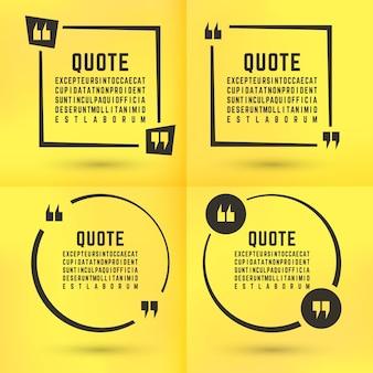 Set di modelli di citazioni