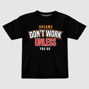 Citazioni tipografia t shirt design