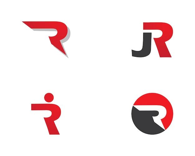 Lettera r logo aziendale