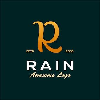 Lettera r di lusso logo illustration abstract