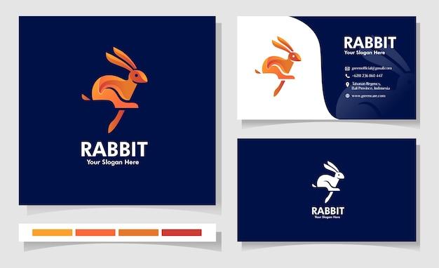 Disegno del logo animale coniglio