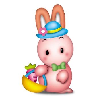 Coniglio cartone animato simpatici animali selvatici pet barbie personaggio bambola dolce modello emozione arte