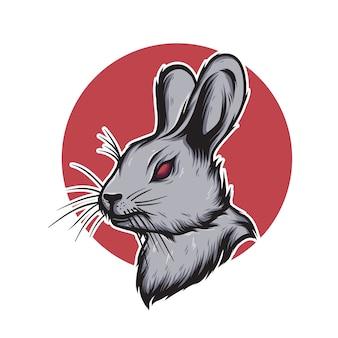 Illustrazione della testa di coniglio