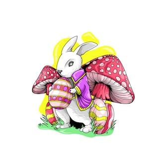 Illustrazione di coniglio per il giorno di pasqua