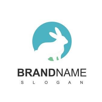Ispirazione per il design del logo del coniglio