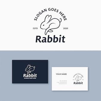 Marchio di coniglio modello logo combinazione e biglietto da visita