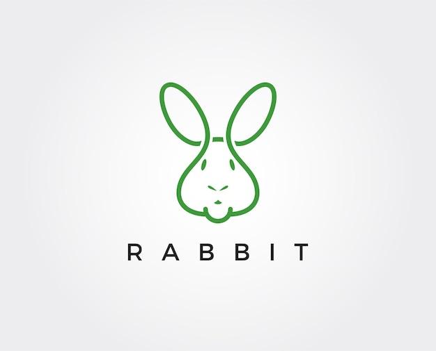 Illustrazione del simbolo dell'icona di vettore del modello di logo del coniglio
