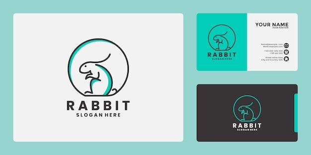 Negozio di conigli, logo design per la cura dei conigli, amanti del coniglio animale vettoriale