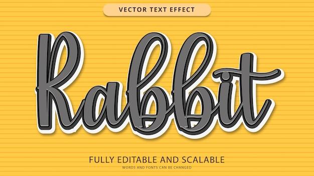 File eps modificabile effetto testo coniglio