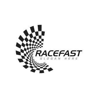 Icona della bandiera della corsa, illustrazione vettoriale dal design semplice