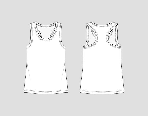 Canotta con retro da regata. abbigliamento sportivo da donna. maglietta activewear.