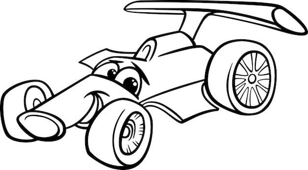 Pagina da colorare di auto da corsa bolide