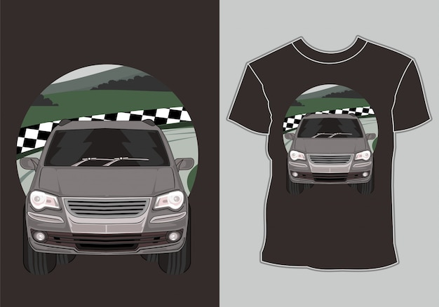 T-shirt da auto da corsa con grafica classica, vintage, auto da corsa retrò