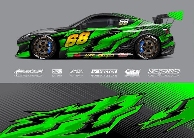 Disegni di adesivi per auto da corsa