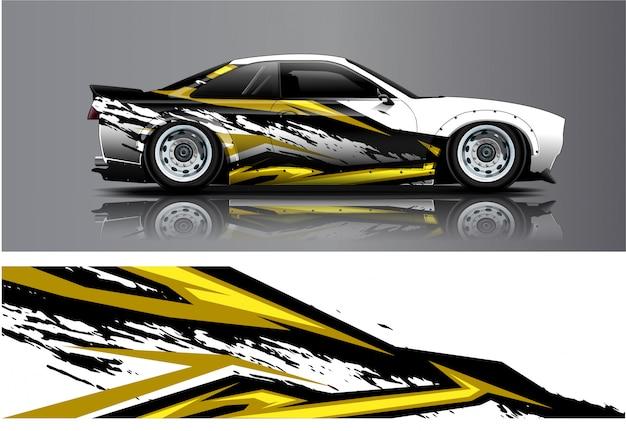 Adesivo per auto da corsa, kit per avvolgere tutti i veicoli