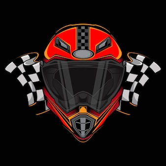 Logo dell'icona del casco da corsa