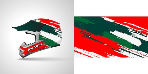 Illustrazione di avvolgimento casco racing