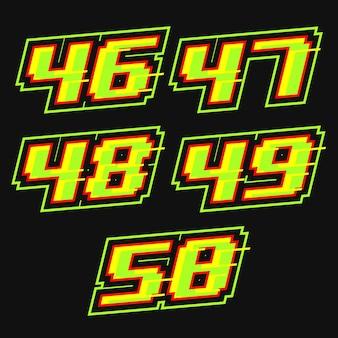 Vettore di disegno del numero di gara