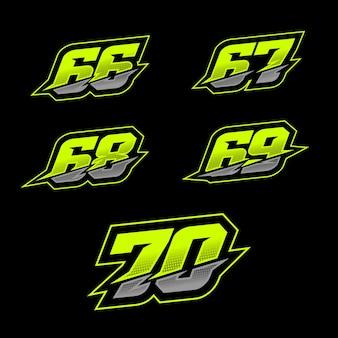 Design del numero di gara
