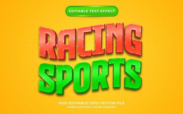 Stile modello effetto testo sport da corsa