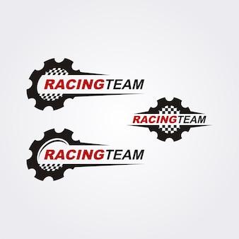 Collezione logo racing team Vettore Premium